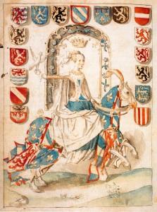 MarieBourgogne CronijkeVlaenderen c.1481 MS437 f372v StedBibl Bruges